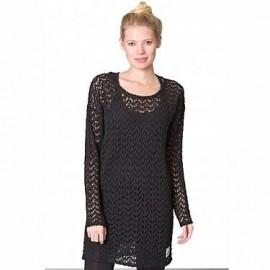 NIKITA CORTADO SWEATER DRESS JET BLACK