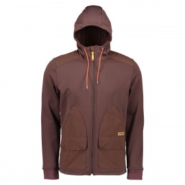 MALOJA GilliM. Hooded Fleece Jacket choco