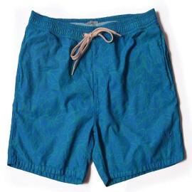 L.BOLT Tropical Turtle Bay Boardshort Directoire Blue