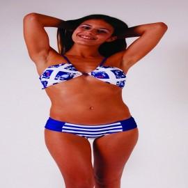 L.BOLT Blue Ocean Front Tie Bikini SURF THE WEB