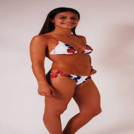 L.BOLT Juicy Triangle Bikini Poppy Red